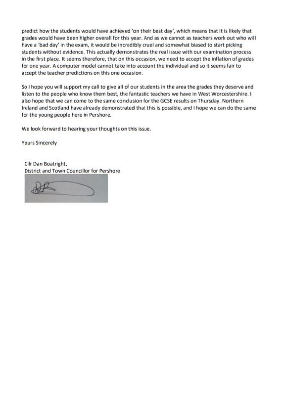 Letter back page
